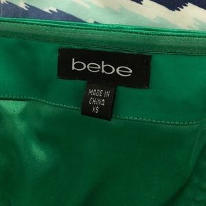 bebe Dresses - ⭐️Bebe Satin Emerald Green Dress⭐️